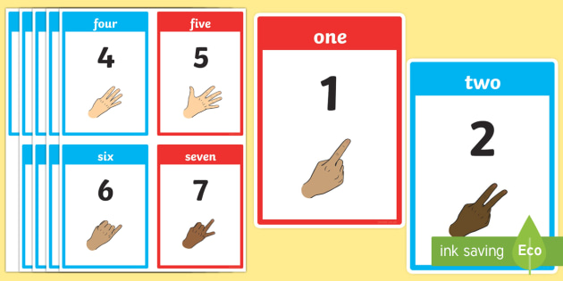 British Sign Language Number Flash Cards - british sign language, sign language, bsl, flash cards, flashcards