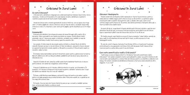 Crăciunul în jurul lumii - Fișă informativă