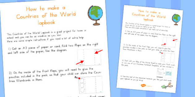 Countries of the World Lapbook Instructions - Country, Geography