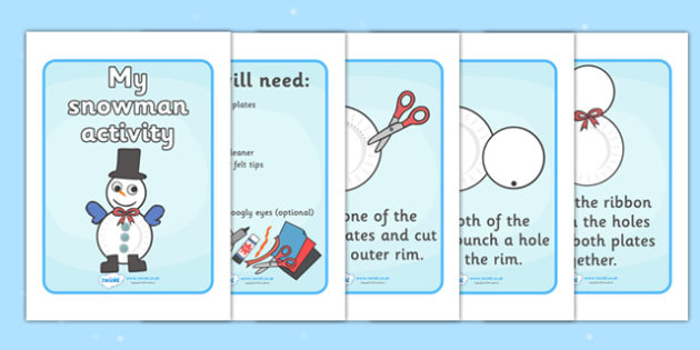 My Snowman Activity - snowman, christmas, xmas, how to make a snowman, materials, nativity, advent