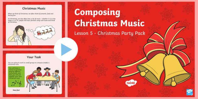 KS1 Composing Christmas Music PowerPoint - Christmas, Nativity, Jesus, xmas, Xmas, Father Christmas, Santa, Christmas music, composing, instrum