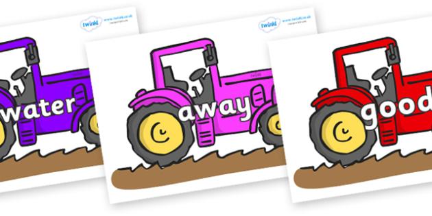 Next 200 Common Words on Tractors - Next 200 Common Words on  - DfES Letters and Sounds, Letters and Sounds, Letters and sounds words, Common words, 200 common words