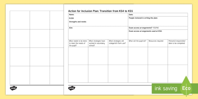 Transition Sheet to KS5 - KS4 Transition KS5