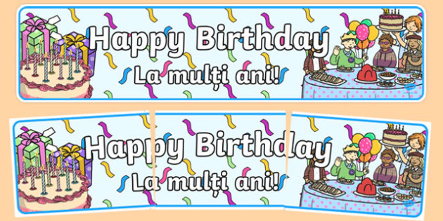 Birthdays Display Banners Translation-Romanian