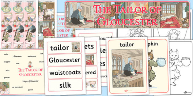 The Tailor of Gloucester Story Sack - tailor, gloucester, story, sack