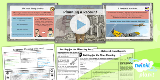 PlanIt Y5 World War II: Battle of Britain Lesson Pack Recounts (1)