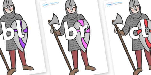 Initial Letter Blends on Soldiers - Initial Letters, initial letter, letter blend, letter blends, consonant, consonants, digraph, trigraph, literacy, alphabet, letters, foundation stage literacy