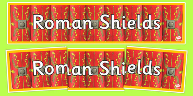 Roman Shields Display Banner - romans, display banner, banner