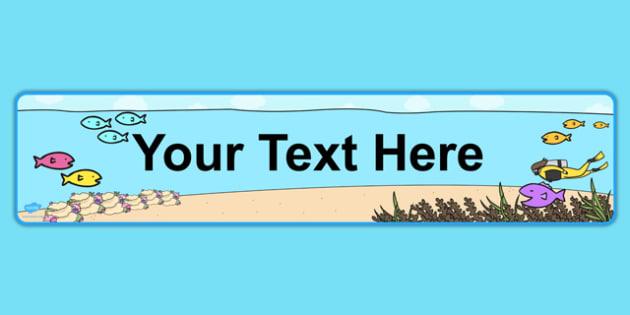 the Sea Themed Editable Display Banner - display, banner
