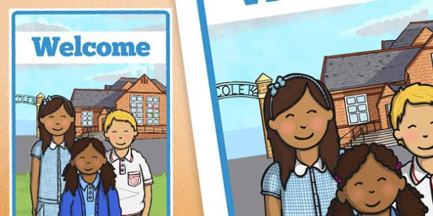 Welcome Poster - welcome poster, welcome, poster, display poster, display