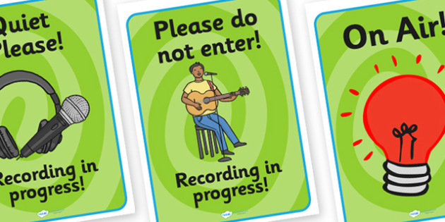 Music Production Role Play Signs - music production studio, role play, signs, music production signs, role play signs, music production role play