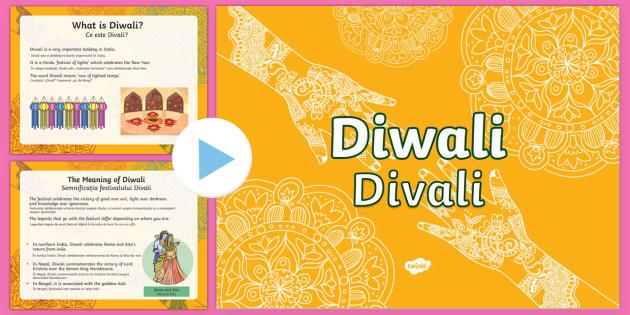 Diwali PowerPoint English/Romanian