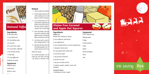 KS1 Christmas Party Pack Recipe - Christmas, Nativity, Jesus, xmas, Xmas, Father Christmas, Santa, recipes, healthy recipes, Christmas