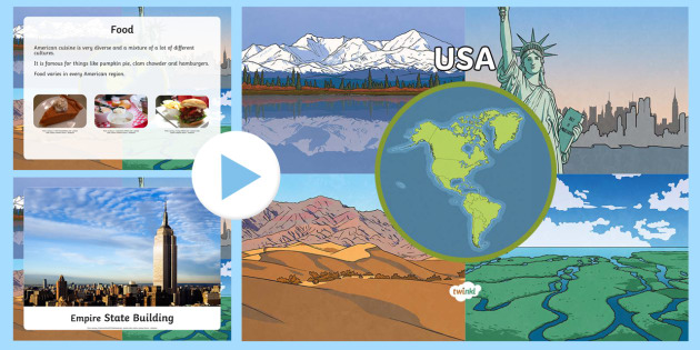 USA Information PowerPoint - usa, usa powerpoint, united states of america, information about the usa, places, around the world, geography ks2, countries