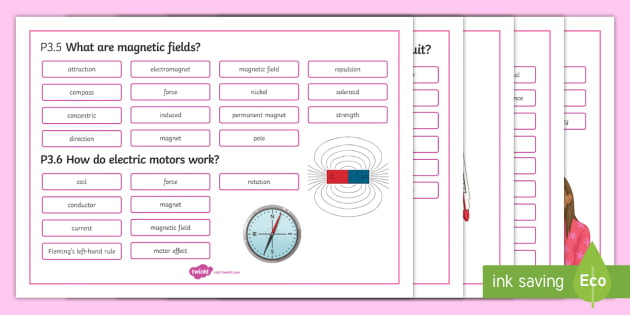 OCR 21st Century Physics P3 Electric Circuits Word Mat - Word Mat, gcse, physics, electric charge, static, electricity, circuit, current, voltage, potential