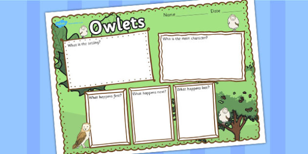 Owl Book Review Writing Frame - owl, book review, writing frame