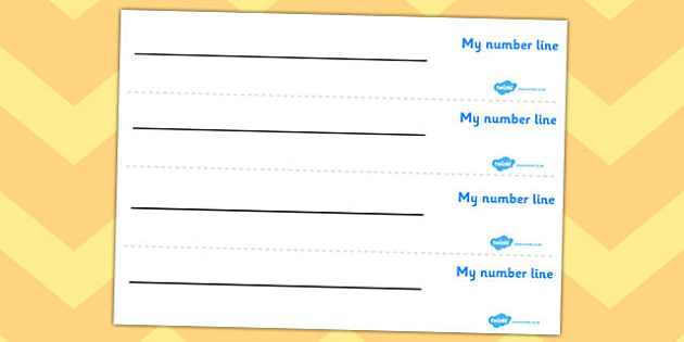 Blank Number Line - Free Download