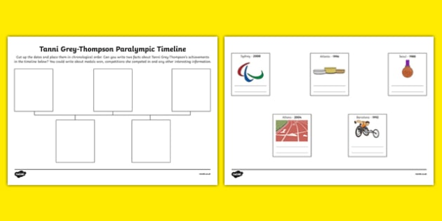Tanni Grey Thompson Paralympic Timeline Write Two Facts - tanni grey thompson, paralympics, timeline