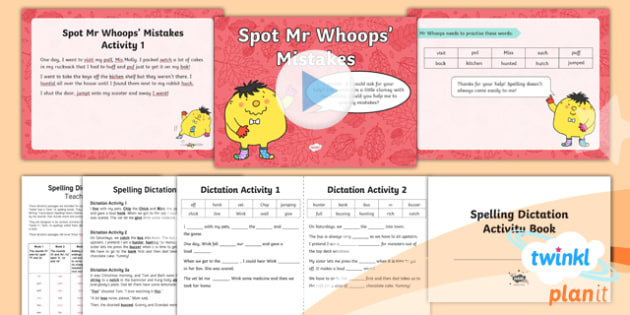PlanIt Y1 Term 1A Assess and Review Spelling Pack