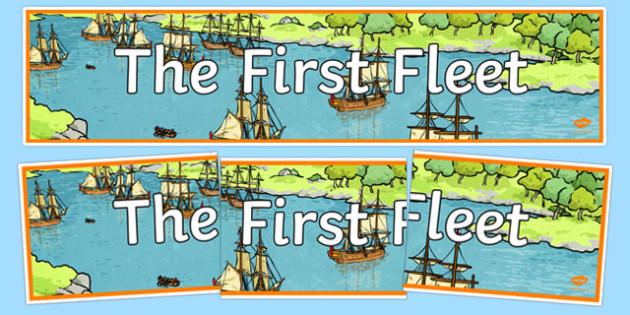 The First Fleet Banner - australia, The First Fleet, First Fleet, convicts, voyage, england, australia, banner