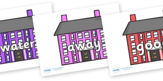 Next 200 Common Words on Houses - Next 200 Common Words on  - DfES Letters and Sounds, Letters and Sounds, Letters and sounds words, Common words, 200 common words