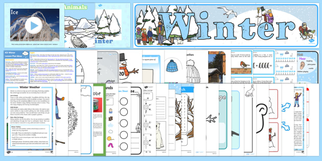 Winter KS1 Lesson Plan Ideas and Resource Pack - pack, winter