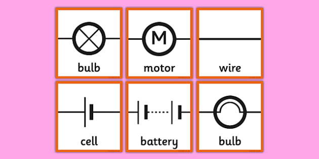 Circuit Symbols Memory Cards - circuit, symbols, scientific, pictures, diagram, electricity, ks2, key stage 2