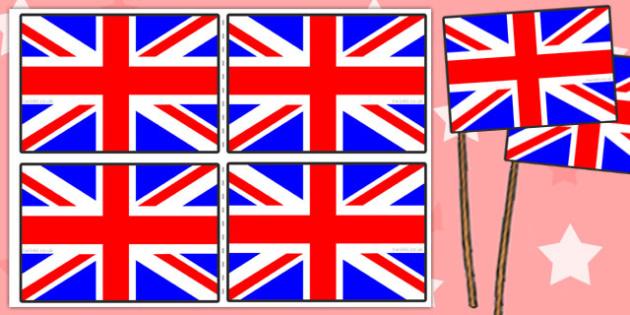 Union Flag Handheld Flags - Union, Jack, Britain, British, flag, handheld