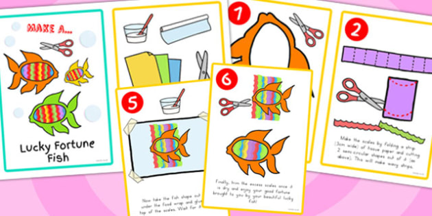 Chinese New Year Make Lucky Fish Activity Instruction - australia