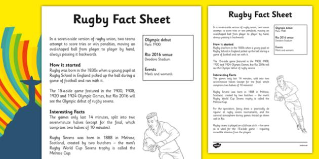 Rio 2016 Olympics Rugby Fact Sheet - rio olympics, 2016 olympics, rio 2016, rugby, fact sheet
