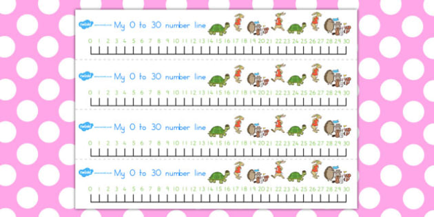 The Tortoise and the Hare Number Lines 0 30 - numbers, counting