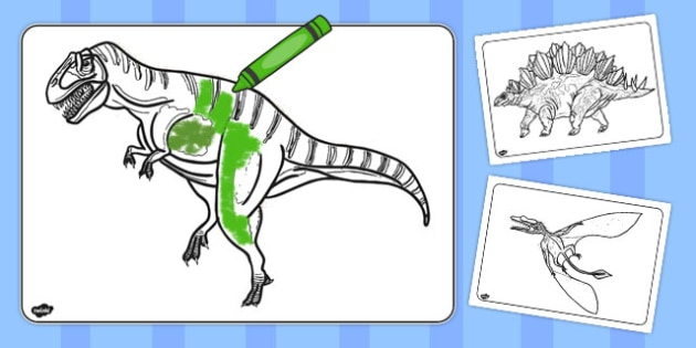 Realistic Dinosaurs Colouring Pages - australia, dinosaur, colour