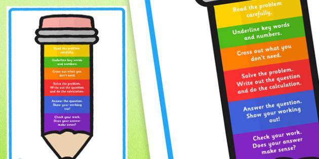 Problem Solving Display Pencil - problem solving, maths, numeracy