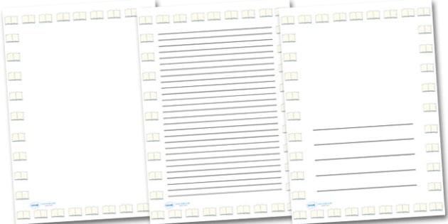 Big Open Book Portrait Page Borders- Portrait Page Borders - Page border, border, writing template, writing aid, writing frame, a4 border, template, templates, landscape