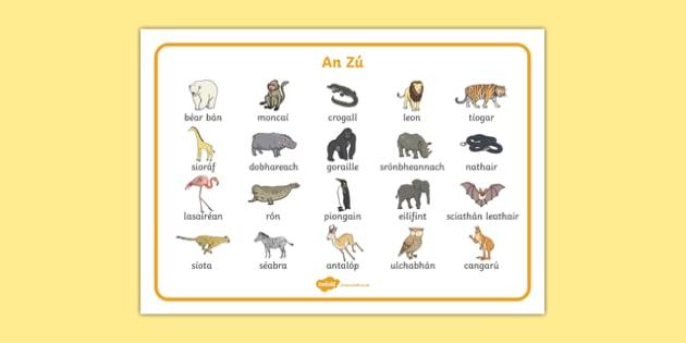 An Zú   Gaeilge Word Mat-Irish
