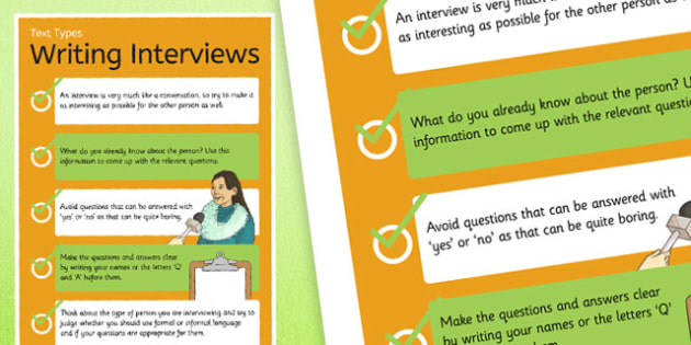Text Types Guide Interview Display Poster - interview poster, planning interviews poster, how to hold an interview, interviewing, interview reminders