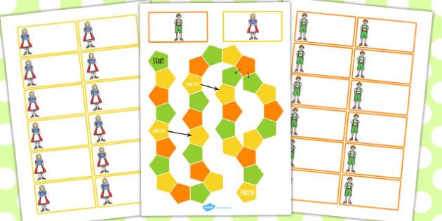 Hansel and Gretel Themed Editable Board Game - board game, hansel