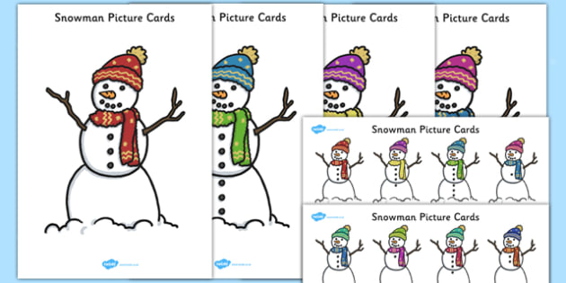 Snowman Picture Cards - EYFS, Early Years planning, winter, seasons, story, The Snowman, Raymond Briggs