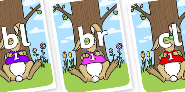 Initial Letter Blends on Sleeping Hare - Initial Letters, initial letter, letter blend, letter blends, consonant, consonants, digraph, trigraph, literacy, alphabet, letters, foundation stage literacy