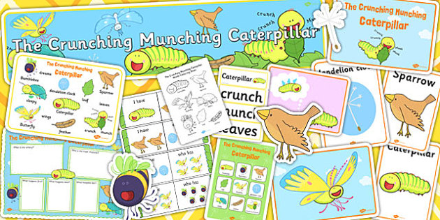 Story Sack to Support Teaching on The Crunching Munching Caterpillar - stories, books
