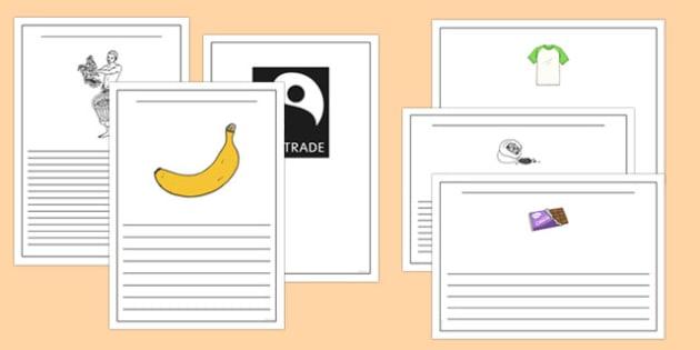 Fairtrade Writing Frames - fairtrade, writing, write, templates