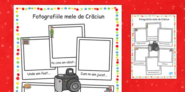 Fotografiile mele de Crăciun - Fișă de lucru