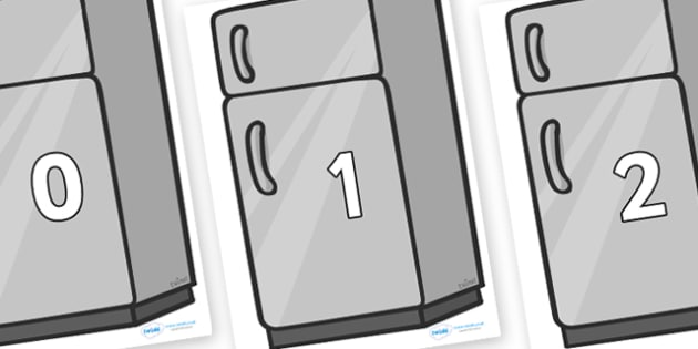 Numbers 0-50 on Fridges - 0-50, foundation stage numeracy, Number recognition, Number flashcards, counting, number frieze, Display numbers, number posters
