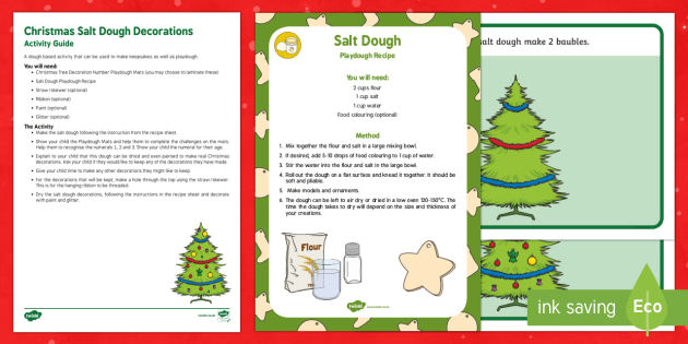 Christmas Salt Dough Decorations Busy Bag Resource Pack for Parents