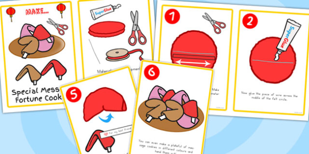 Chinese New Year Felt Fortune Cookies Activity Instructions