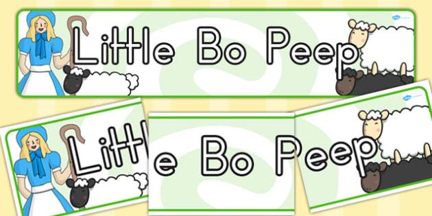 Little Bo Peep Display Banner - Australia, Little, Bo, Peep
