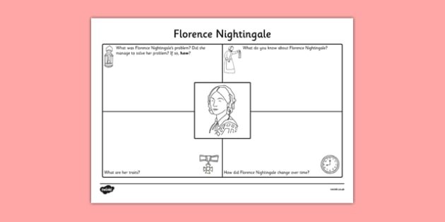 Florence Nightingale Character Writing Sheet - florence nightingale, character, writing, sheet, write
