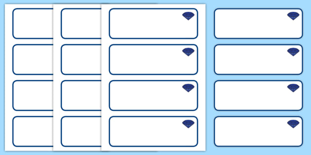 Sapphire Blue Themed Editable Drawer-Peg-Name Labels (Blank) - Themed Classroom Label Templates, Resource Labels, Name Labels, Editable Labels, Drawer Labels, Coat Peg Labels, Peg Label, KS1 Labels, Foundation Labels, Foundation Stage Labels, Teachin