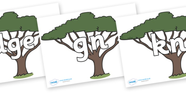 Silent Letters on Acacia Trees - Silent Letters, silent letter, letter blend, consonant, consonants, digraph, trigraph, A-Z letters, literacy, alphabet, letters, alternative sounds