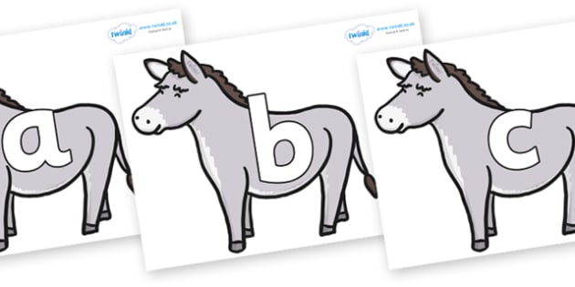 Phoneme Set on Donkeys - Phoneme set, phonemes, phoneme, Letters and Sounds, DfES, display, Phase 1, Phase 2, Phase 3, Phase 5, Foundation, Literacy